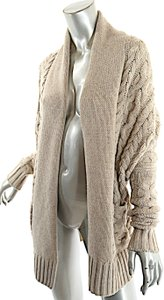 Vince Bergdorf Goodman Cable Weave Shawl Collar Cardigan