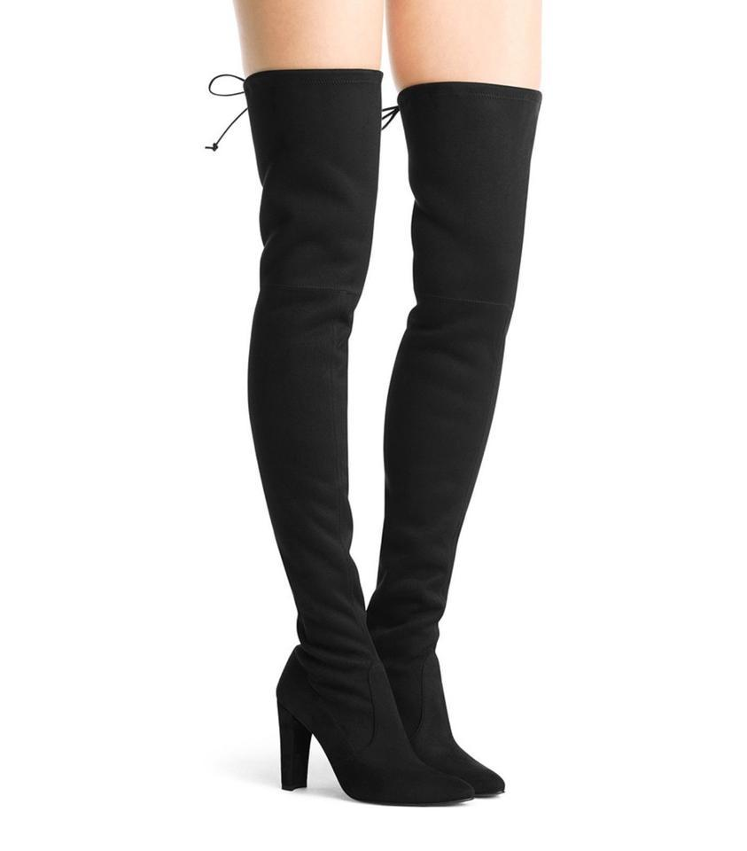 b9764358cc8 Stuart Weitzman Black Highland Over The Knee Boots/Booties Size US 10  Narrow (Aa, N) 57% off retail