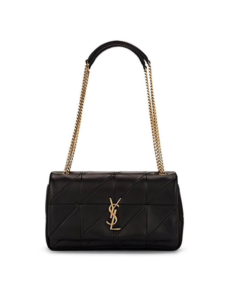 b4a706ea86fa Saint Laurent Jamie Monogram Medium Leather Black Shoulder Bag - Tradesy