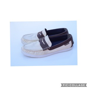Cole Haan off white & brown Flats