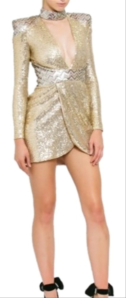 92aa545c1d Gold Bang and Burn Sequined Short Cocktail Dress Size 2 (XS) - Tradesy