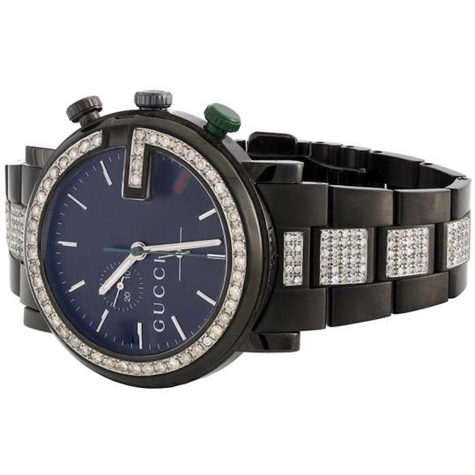 a97123d91bb Gucci Mens Pvd Stainless Steel YA101331 G-Chrono Diamond 4.5 Ct Image 6.  1234567