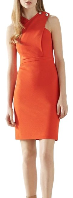 Gucci Tangerine New Crossover Mid-length Cocktail Dress Size 4 (S) Gucci Tangerine New Crossover Mid-length Cocktail Dress Size 4 (S) Image 1
