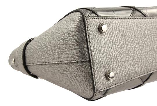Coach Satchel in Silver Image 4