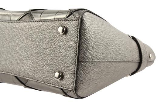 Coach Satchel in Silver Image 5