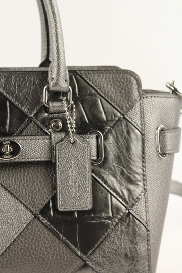 Coach Satchel in Silver Image 6