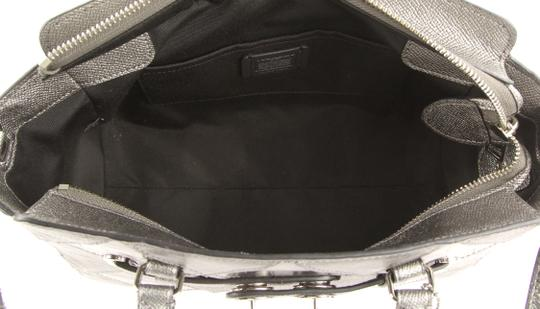 Coach Satchel in Silver Image 9