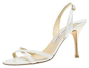 Jimmy Choo Leather White Sandals