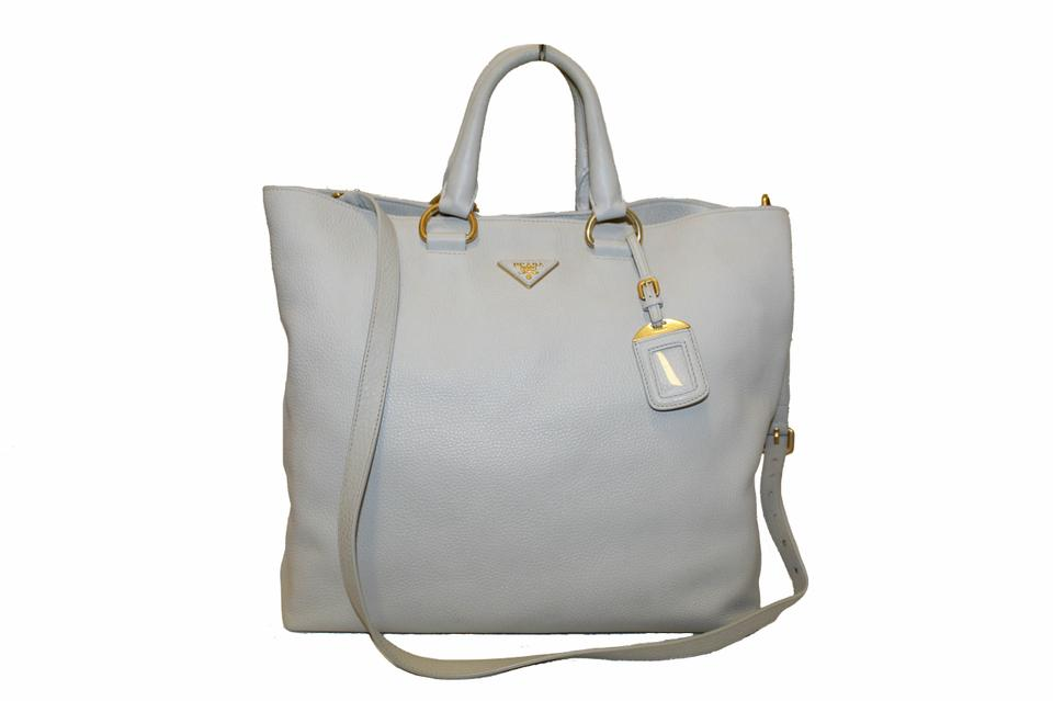 404607a48404 Prada Vitello Daino Large Shopping White Leather Tote - Tradesy