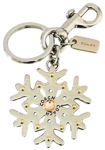 Coach Crystal and Rivet Snowflake Key Chain FOB