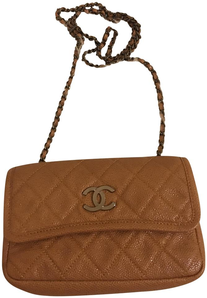 fec1c1f011a6 Chanel Serial Xxxx740646 Caramel Cross Body Bag - Tradesy