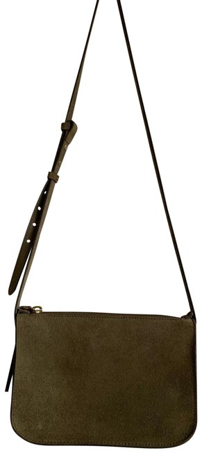 Item - The Simple Olive Green Suede Leather Cross Body Bag