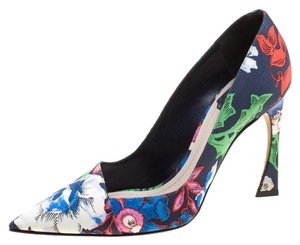 Dior Print Canvas Pointed Toe Multicolor Pumps