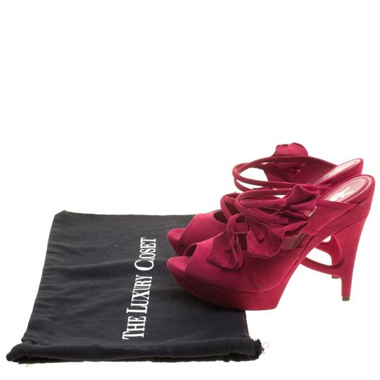 Saint Laurent Suede Leather Pink Sandals