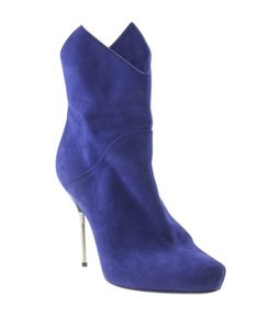 Giuseppe Zanotti Ankle Suede Blue Boots