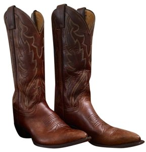 Justin Boots Vintage Bay Apache Western Brown Boots