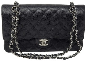 9174f6b65aaa Chanel Shoulder Bag · Chanel. New Medium Classic Double Flap Caviar Black  Shoulder Bag