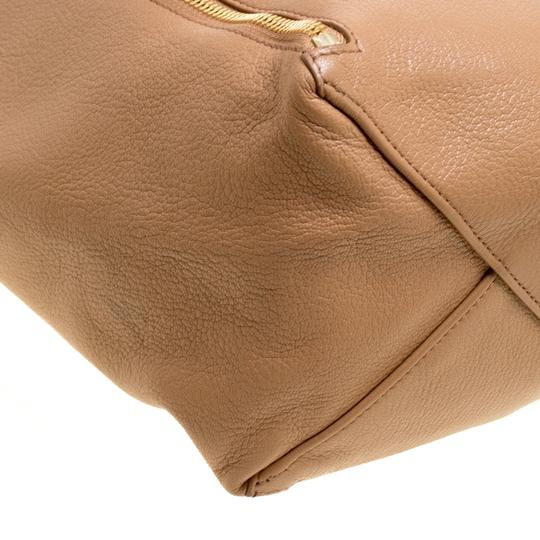 Céline Leather Tote in Brown