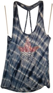 10f63035aa22f No Boundaries Sapphire Tie Dye New Braided Straps Top Blue