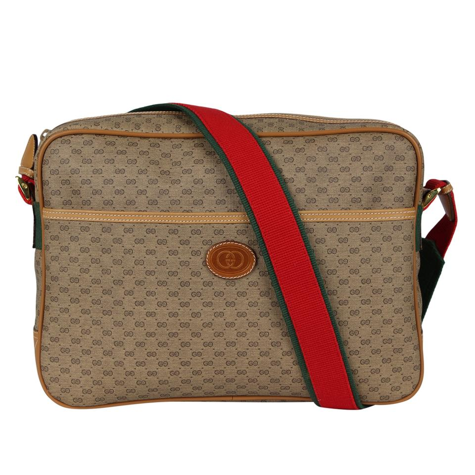 115876d31331 Gucci Webby Shoulder Great Condition Gg Supreme Medium Beige 7053 Brown  Canvas Weekend/Travel Bag