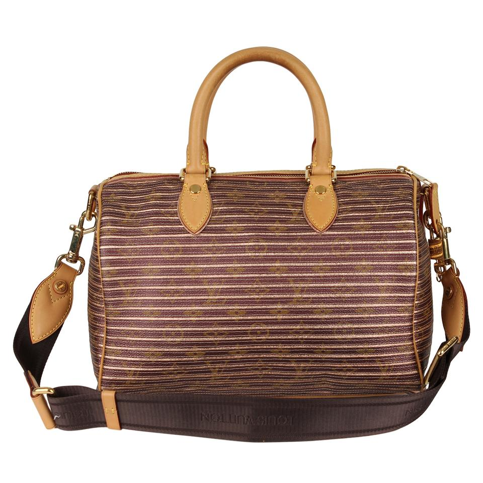 2e9349fffdc9 Louis Vuitton Speedy Eden Neo Excellent Condition Limited Edition Peche 30  7007 Brown Canvas Cross Body Bag