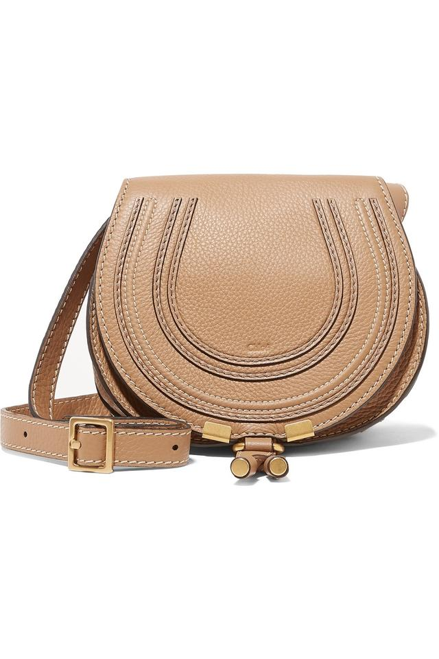d6be962e76 Chloé Marcie Mini Textured-leather Leather Shoulder Bag - Tradesy