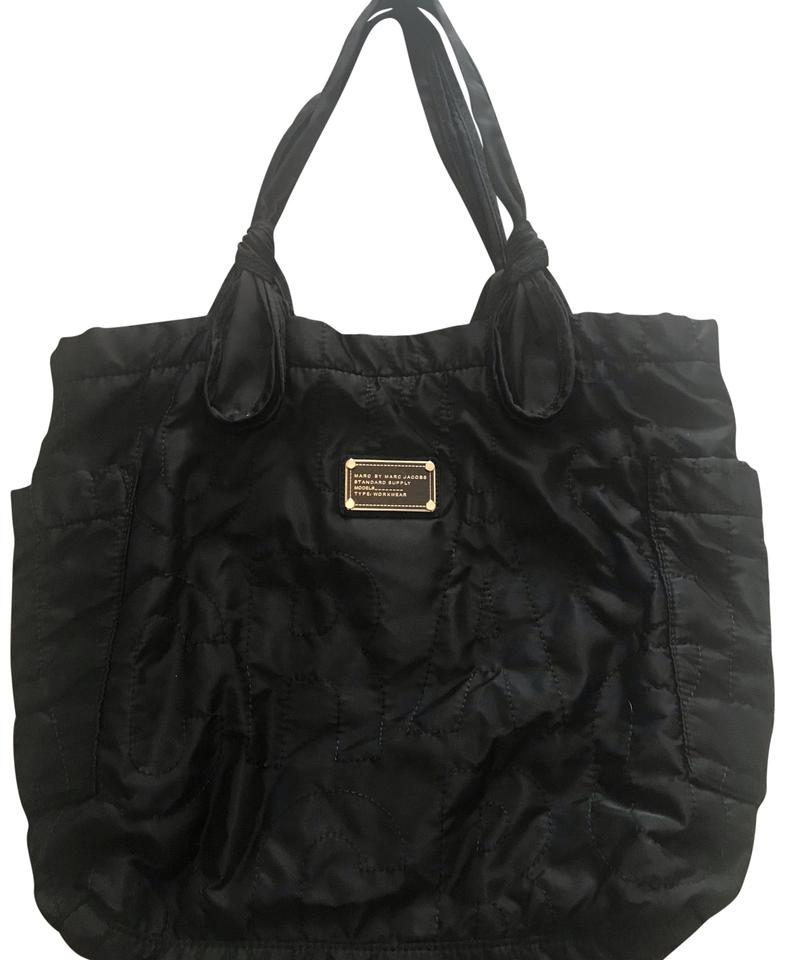 18f89ba1f1e39 Marc by Marc Jacobs Pretty Medium Black Nylon Weave Tote - Tradesy