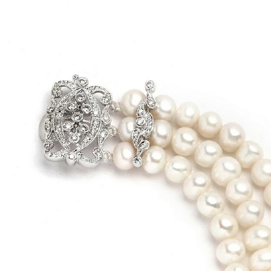 3-row Freshwater Pearl with Vintage Clasp Bracelet