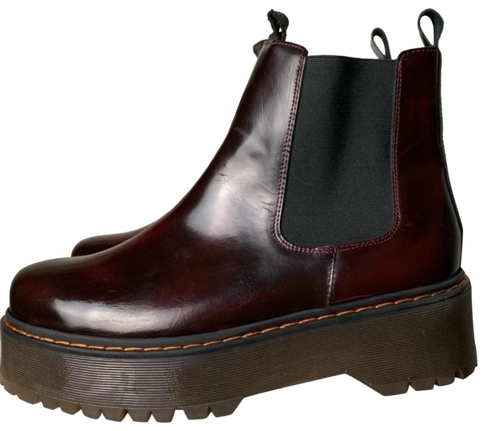 70308b92569f Free People Burgundy Murray Platform Chelsea Boots Booties. Size  EU ...