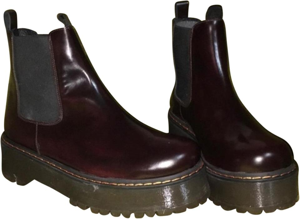 6c00c33a8f52 Free People Burgundy Murray Platform Chelsea Boots Booties Size EU 39  (Approx. US 9) Regular (M
