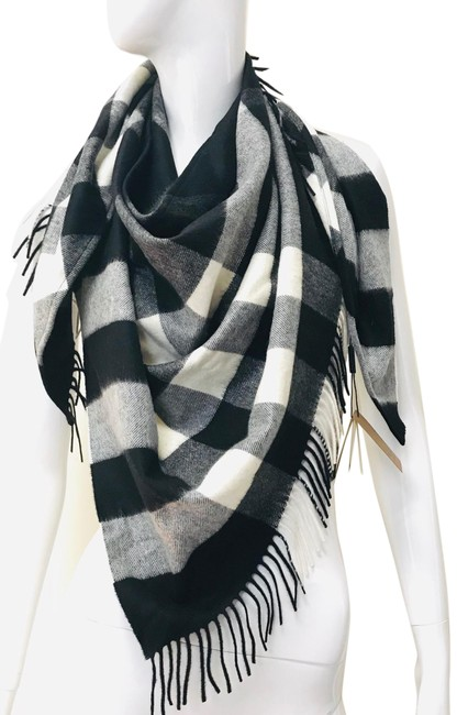 Burberry Black The Bandana In Check Cashmere Scarf/Wrap Burberry Black The Bandana In Check Cashmere Scarf/Wrap Image 1