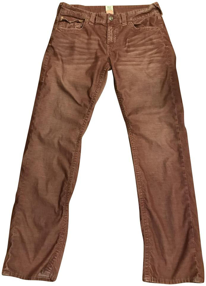 78c5df371 True Religion Reddish Pink Ricky Relaxed Fit Corduroy Pants Size 14 ...