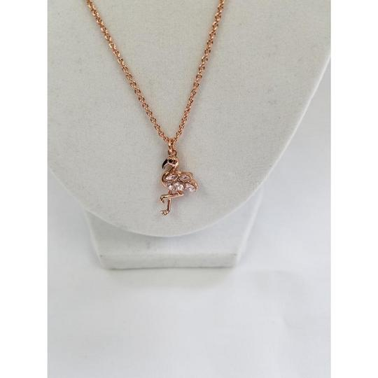 Kate Spade 098686607040 New York Flamingo Rose Gold Plated Necklace Image 1
