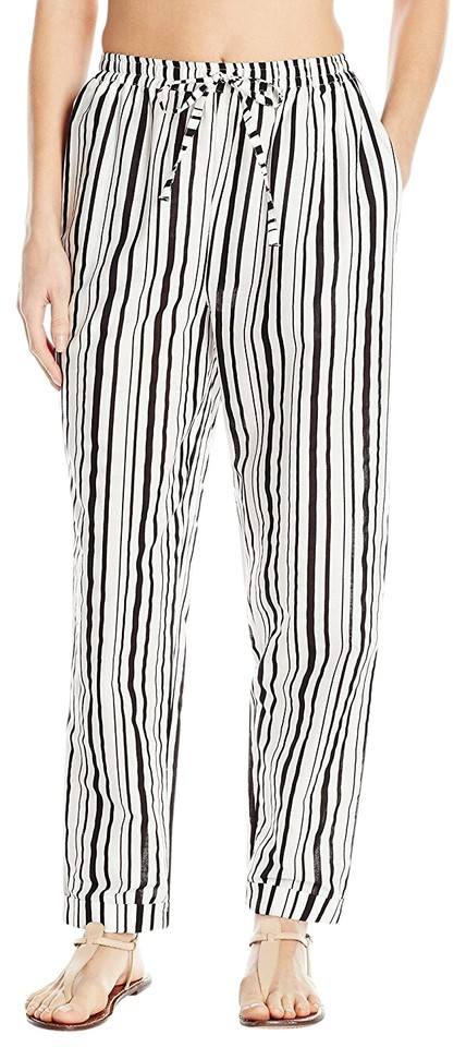 5b758e4a14a1d MINKPINK Black White Women s Riviera Getaway Striped Pants Cover-up Sarong
