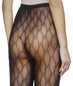 Gucci Gucci Black GG web Supreme Tights L sz