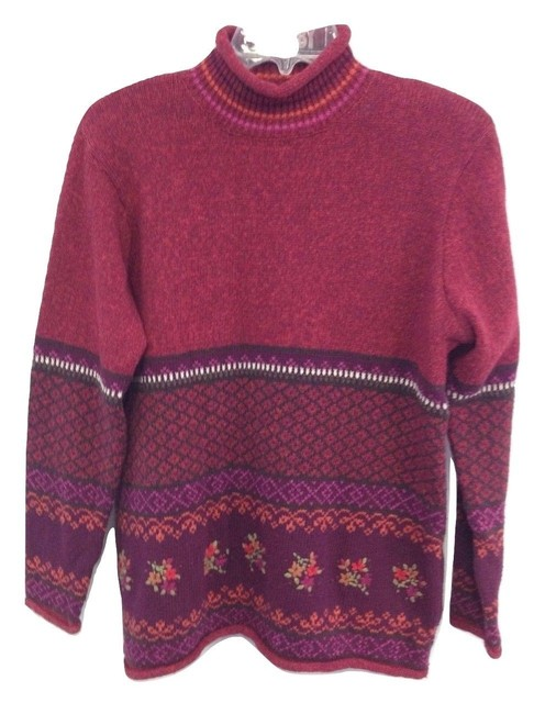 Item - Floral Embroidered Red Sweater