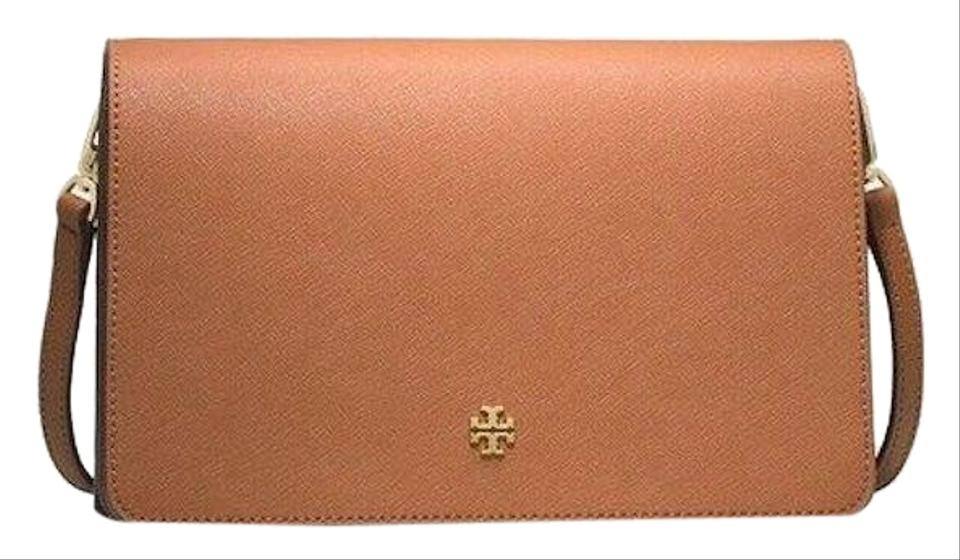 bd687005d4f Tory Burch New (49126) Emerson Combo Saffiano Wallet Brown Leather ...