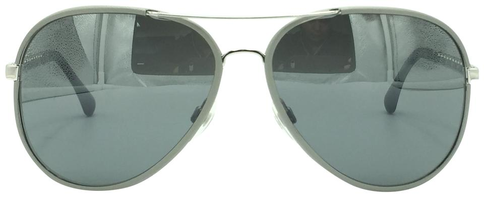 cc06a3602e Chanel Gray   Silver Chain Aviator 4219 124 W6 Sunglasses - Tradesy