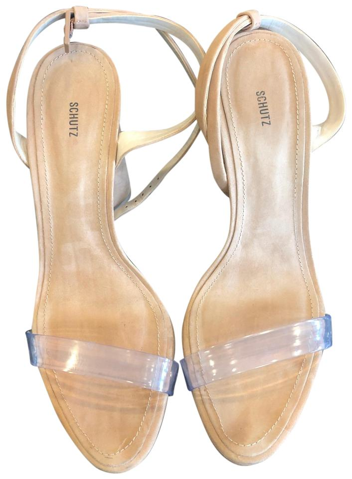 8d09c4852a0c SCHUTZ Natural Geisy Heel Pumps Size US 8 Regular (M