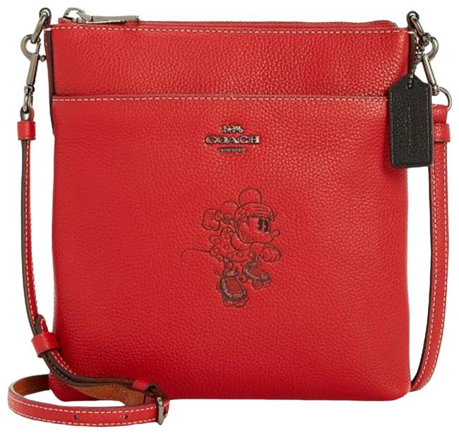 Item - Crossbody Minnie Mouse Red Leather Messenger Bag