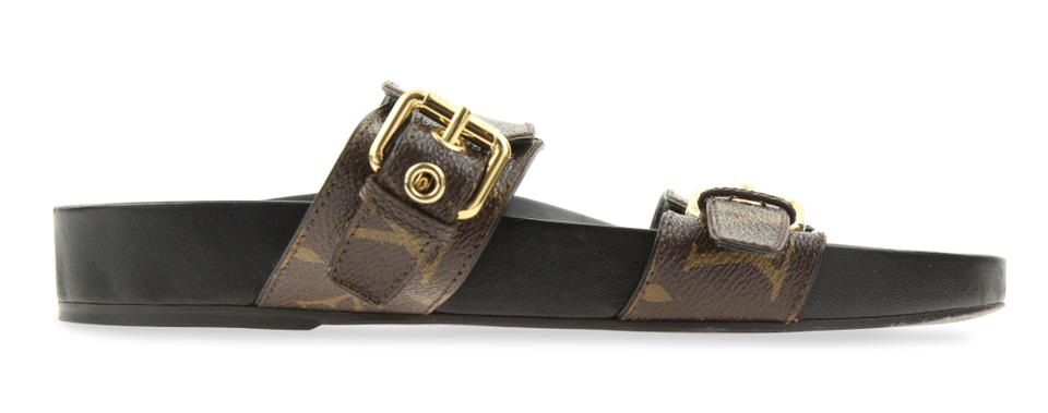 b6e52e23c Louis Vuitton Brown Bom Dia Mule Sandals Size EU 37 (Approx. US 7 ...