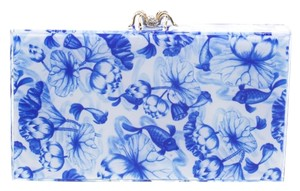 Charlotte Olympia Perspex Print Blue Clutch