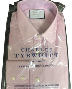 Charles Tyrwhitt Egyptian Cotton Oxford Shirt Dress Shirt Button Down Shirt Pink