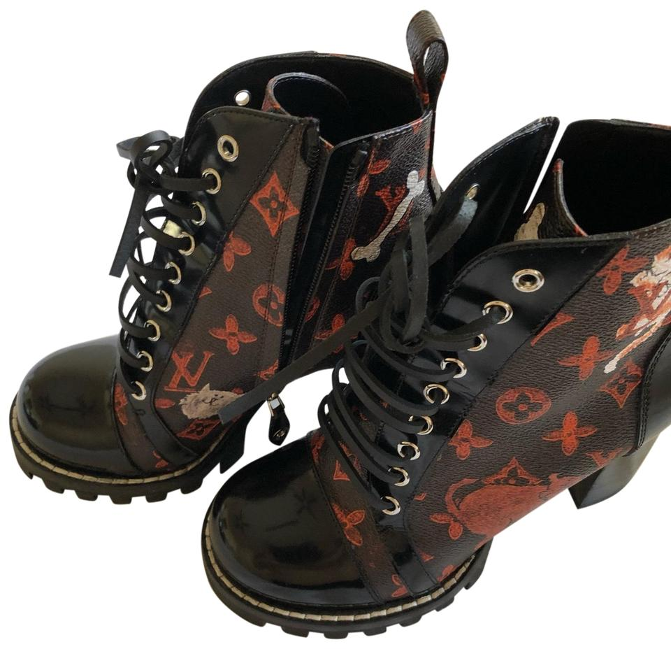 7b103898469 Louis Vuitton Monogram (Rare) Star Trail Ankle Boots Booties Size US ...