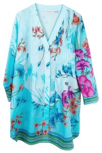 Soft Surroundings Button Down Shirt blue