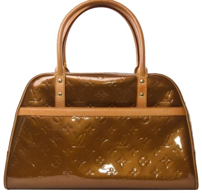 Item - Tompkins Square *like New* Monogram Vernis Dr Style Bag. This Features Handles and Trim With Bronze Patent Leather Satchel