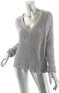 Inhabit Cotton Cashmere Relaxed V Neck Sweater