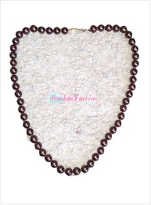 """Mother of Pearl Chocolate 8mm Brown South Sea Shell 18"""" Necklace"""