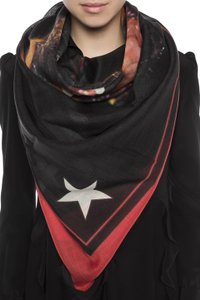 Givenchy large Rottwieler head scarf
