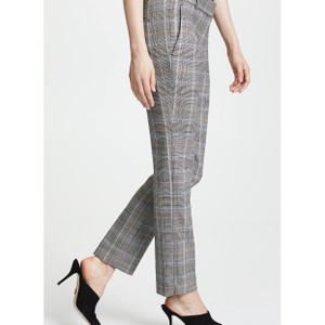 Theory Blue Cropped Trouser Pants Multi Plaid